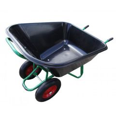 Thoroughbred Jumbo Twin Wheelbarrow 250ltr