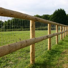100m Half Round Post and Rail Kit