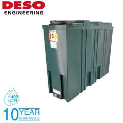 Deso SL1400BT 1400 Litre Slimline Bunded Oil Tank