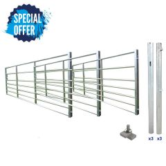 Triple Ashbourne Metal Field Gate Kit with FREE Anti-Theft Collar