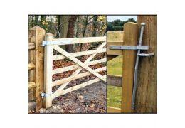 Wooden Gate Hinge/Hanging Set