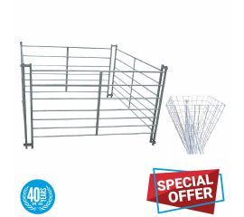20 Sheep Hurdles & 5 Hay Feeder Basket Bundle