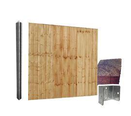 Feather Edge Fencing Kit 1.8m High Individual