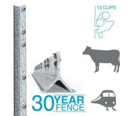 Clipex Railway/Cattle Standard Post 2.0m