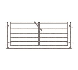 Pair of 6 Railed Gates in 2500mm Frame