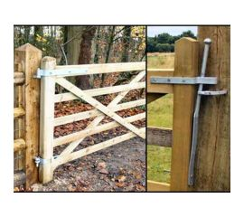 Wooden Gate Hinge/Hanging Set