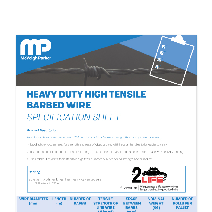 Barbed Wire Specification Sheet