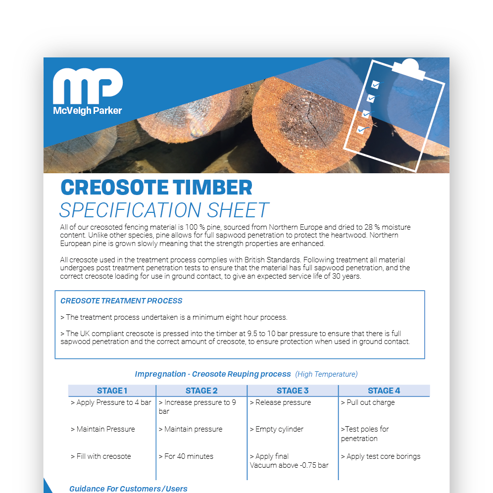 Creosote Timber