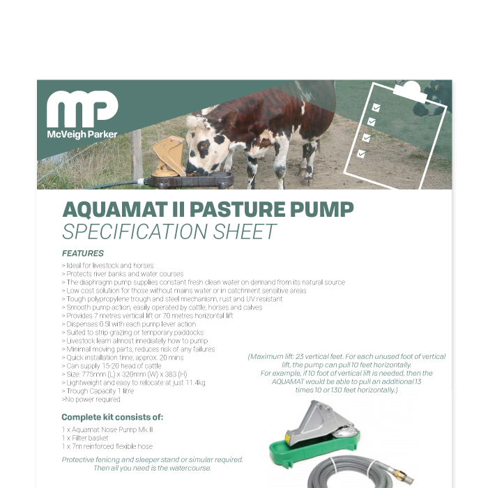 Aquamat II Pasture Pump