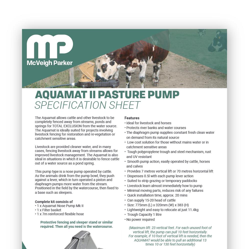 Aquamat II Pasture Pump