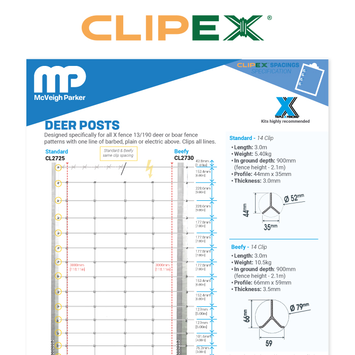 Clipex Deer Posts