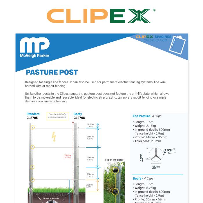 Clipex Pasture Post