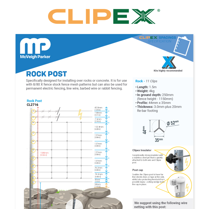 Clipex Rock Post