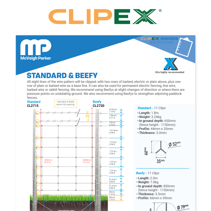 Clipex Standard and Beefy Posts