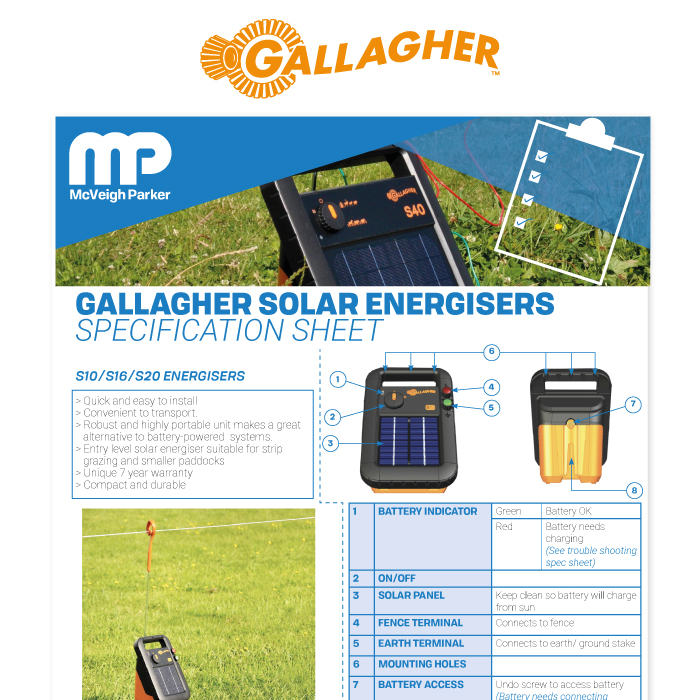 Gallagher Electric Fence Energisers