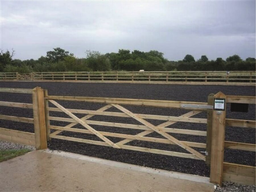Gates for horse riding arena