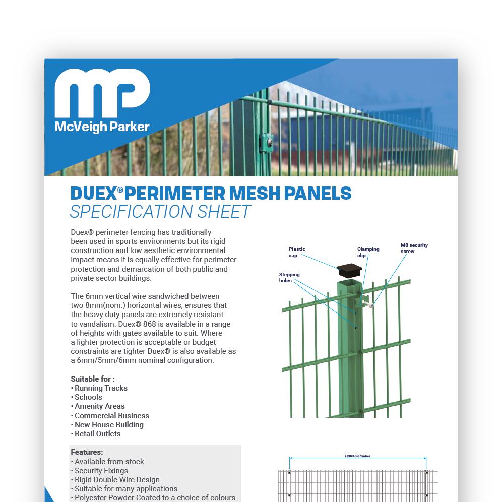 Duex Perimeter Mesh Panels