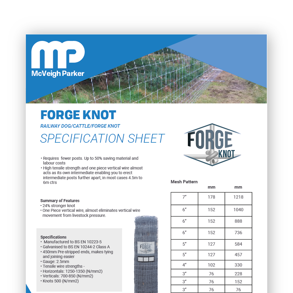 Forge Knot Stock Fence