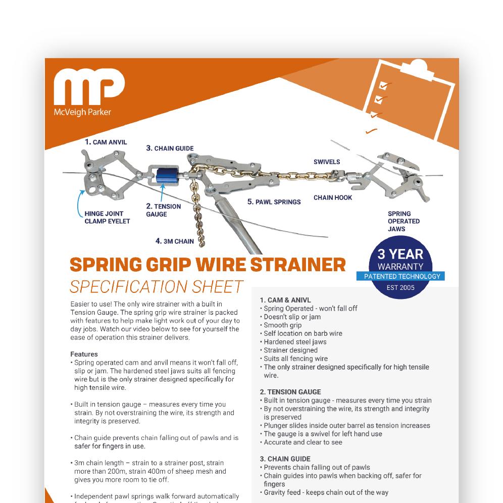 Spring Grip Wire Strainer