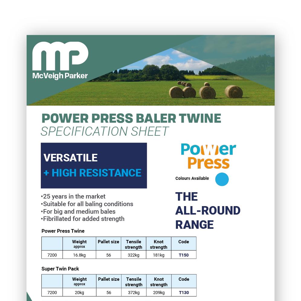 Power Press Baler Twine