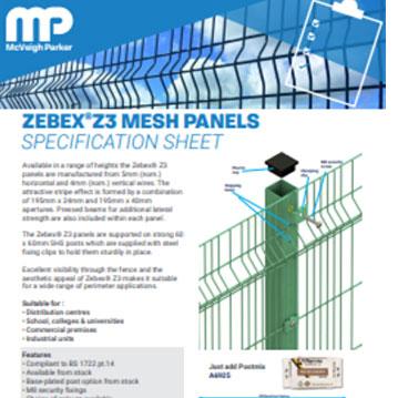 Zebex Z3 Mesh Panels