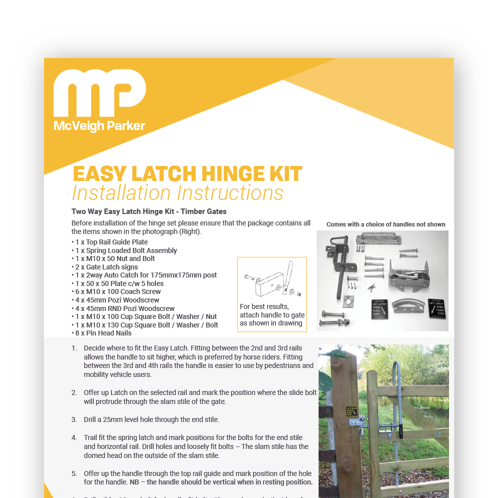 Easy Latch 2 Way Installation Instructions