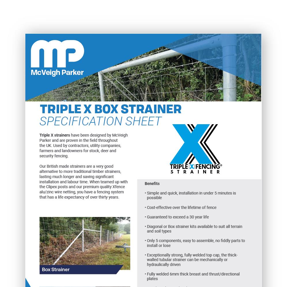 Triple X Box Strainers