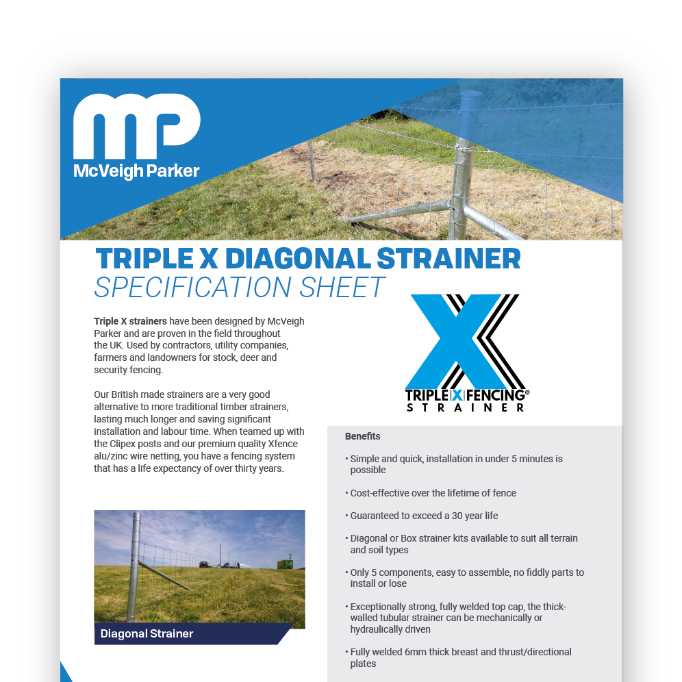 Triple X Diagonal Strainers