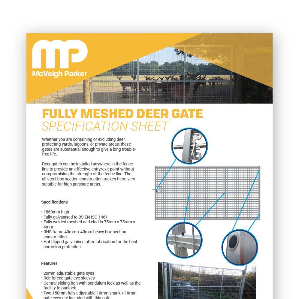 Fully Meshed Deer Gate