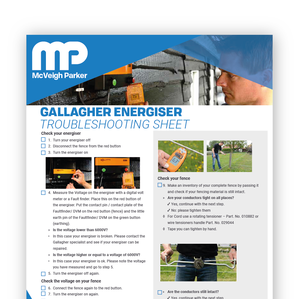 Gallagher Energiser Troubleshooting