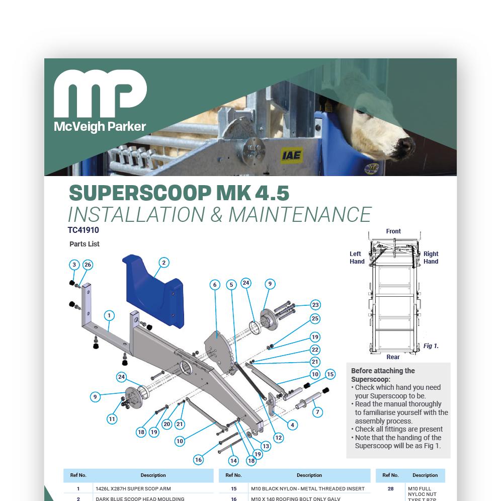 Superscoop MK 4.5 Installation & Maintenance