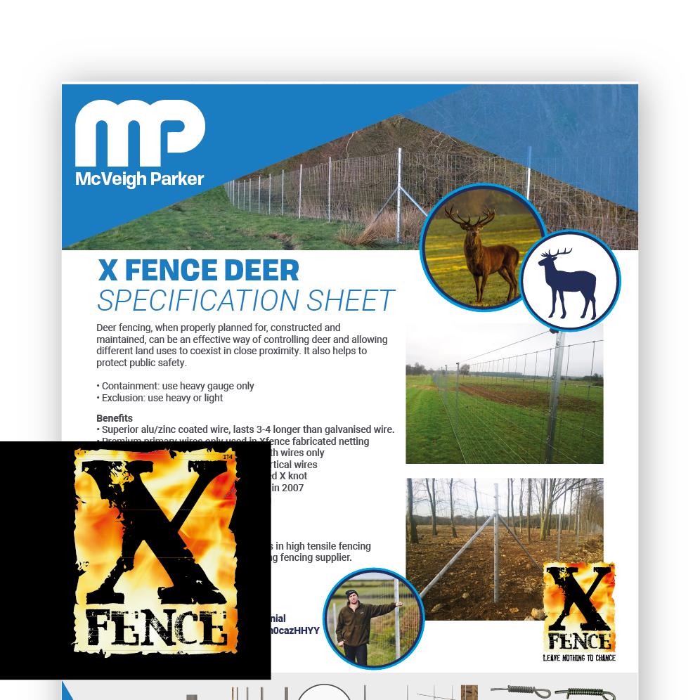 X Fence Deer