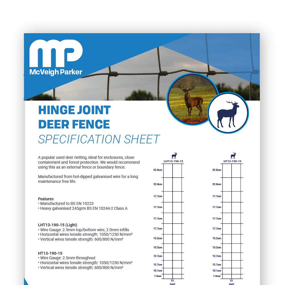 Hinge Joint Deer Fence