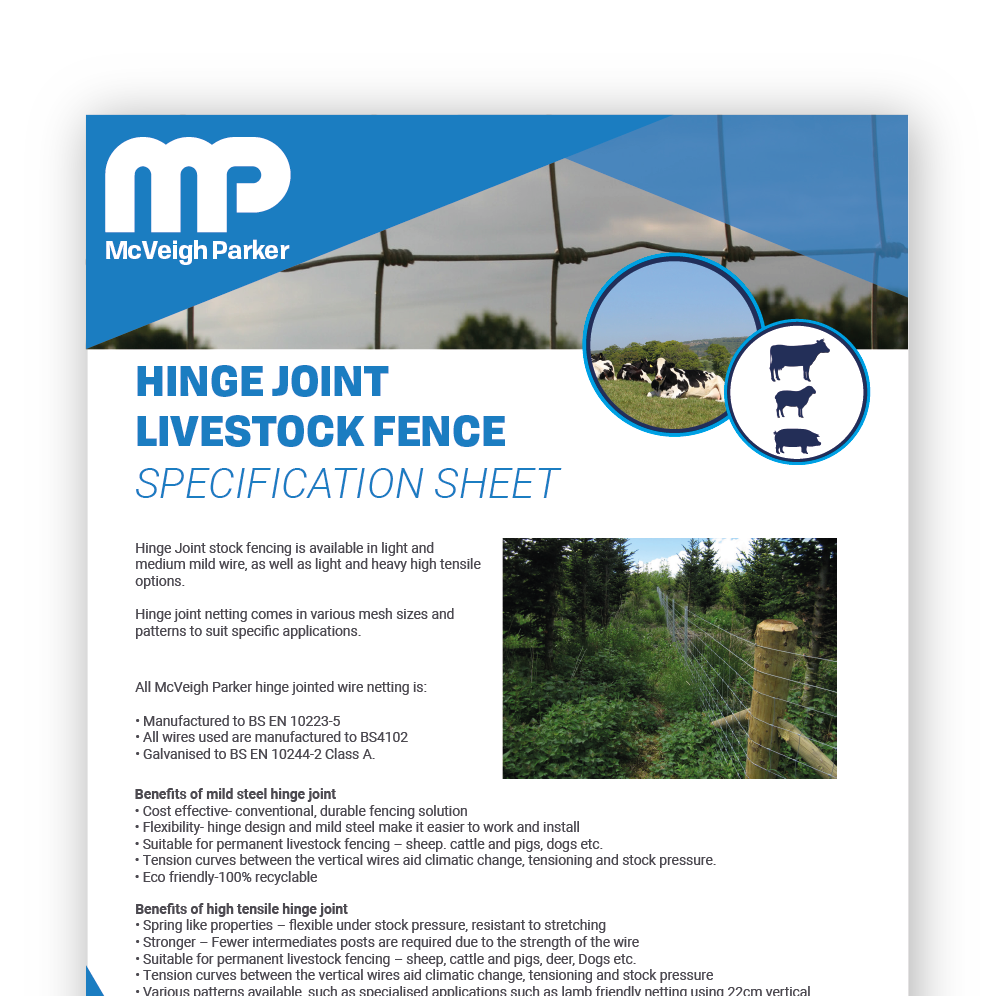 Hinge Joint Livestock Fence